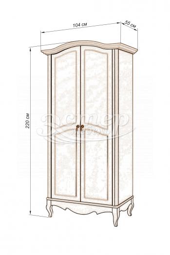Шкаф 2-х створчатый Прованс из массива сосны