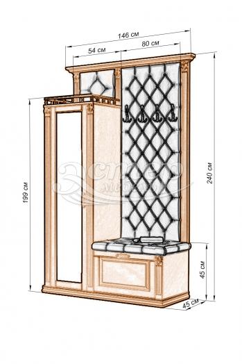 Прихожая с открытой вешалкой и зеркалом 2 из серии