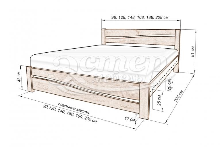 Кровать Кастро из массива бука