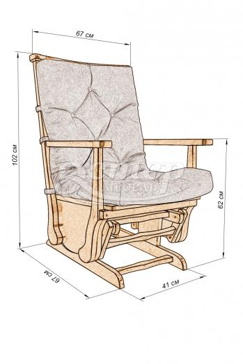 Кресло-качалка маятникового типа Миранда из массива дуба