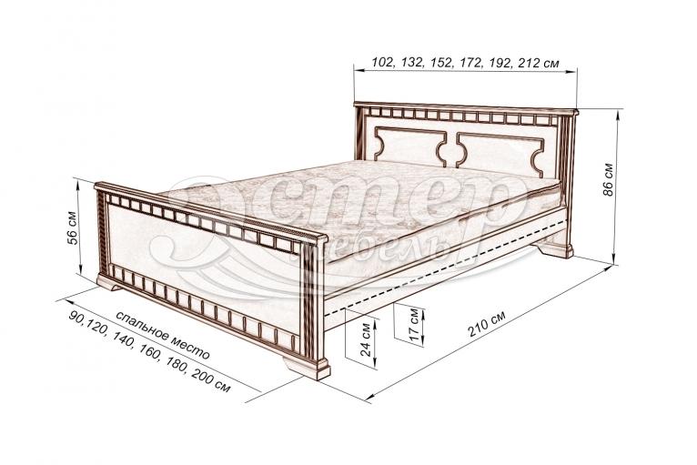 Кровать Венеция из массива дуба