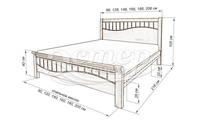 Кровать Герона из массива бука