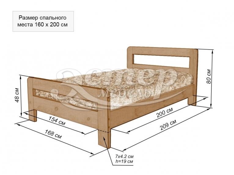 Кровать Мадрид №3 из массива березы