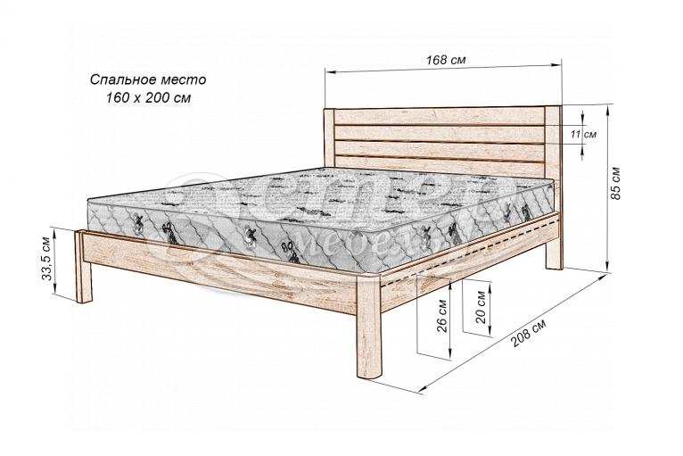 Кровать Варяг из массива бука