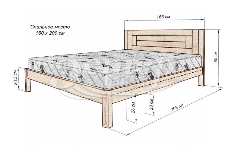Кровать Варяг Nice из массива сосны (белая эмаль)