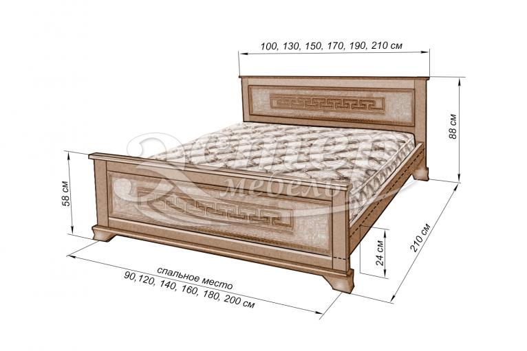 Кровать Колорадо из массива березы