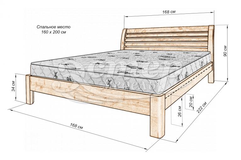 Кровать Мерфи из массива сосны