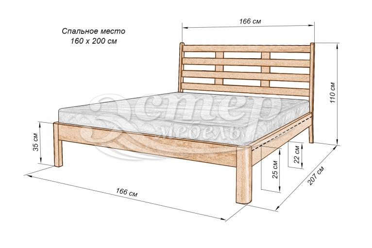 Кровать Бостон из массива березы