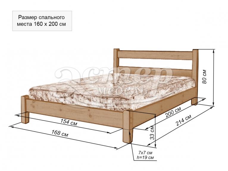 Кровать-тахта Паленсия 1 из массива бука