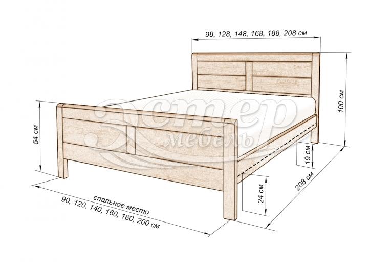 Кровать Дакота 2 из массива березы