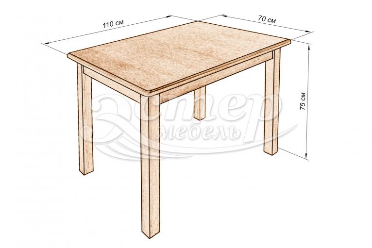 Кухонный стол Денвер из массива бука