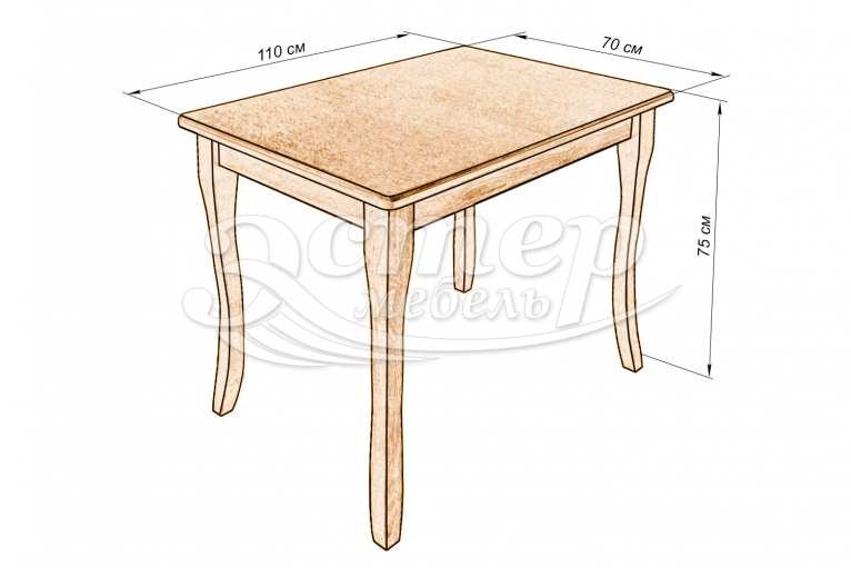 Кухонный стол Капри из массива березы