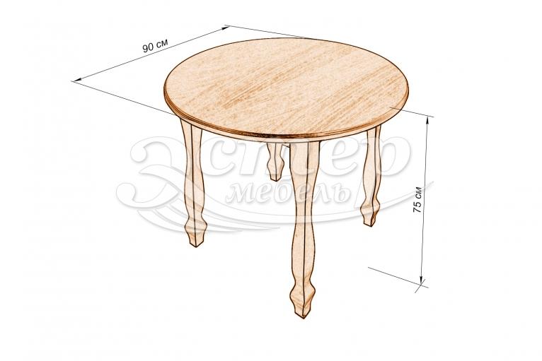 Кухонный стол Лион из массива дуба