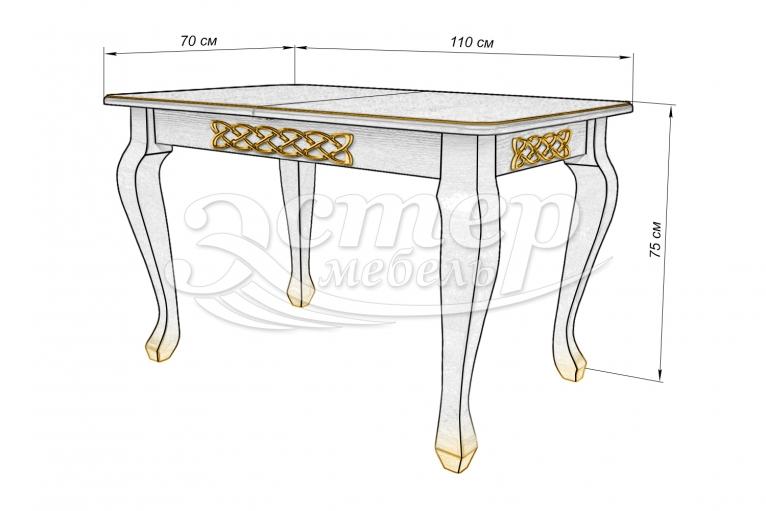 Кухонный стол Лотос из массива бука