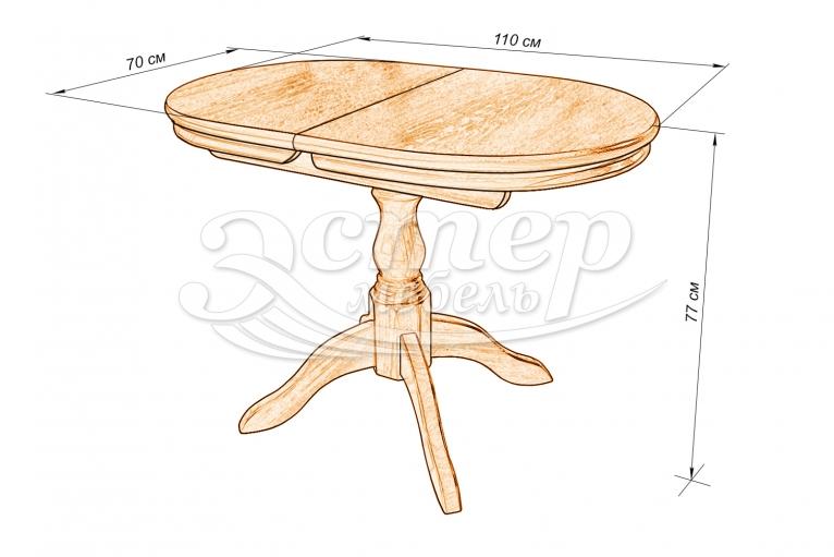 Кухонный стол Остин из массива дуба