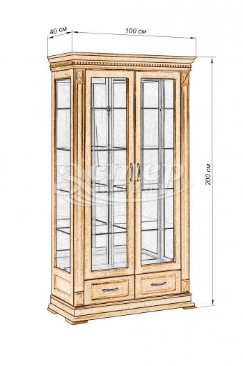 Шкаф двойной Флоренция-1 из массива дуба