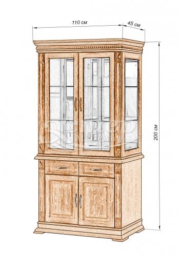 Шкаф двойной Флоренция-2 из массива сосны