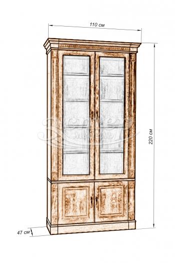 Шкаф двойной Флоренция-3 из массива дуба