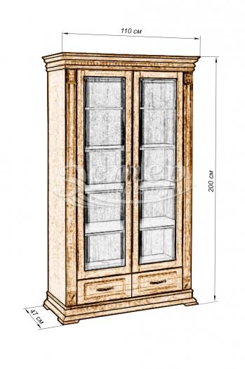 Шкаф двойной Флоренция-4 из массива дуба