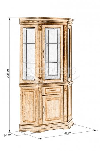 Шкаф Флоренция-3 из массива сосны