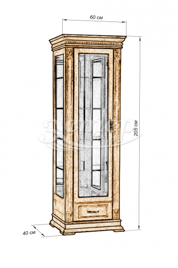 Шкаф Флоренция-4 из массива сосны