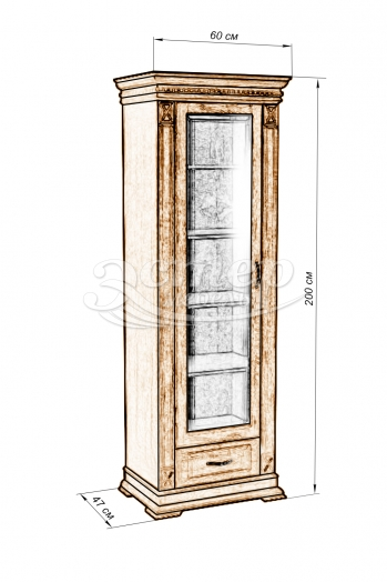 Шкаф Флоренция-5 из массива сосны