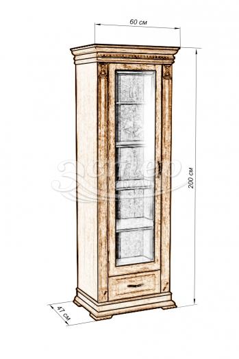 Шкаф Флоренция-5 из массива дуба