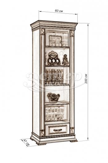 Шкаф Флоренция-6 слоновая кость из массива дуба