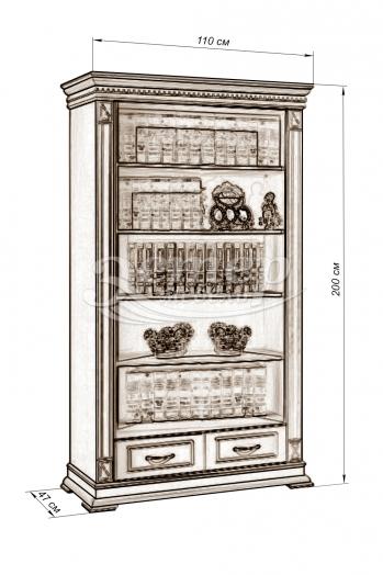 Шкаф Флоренция-7 слоновая кость из массива дуба