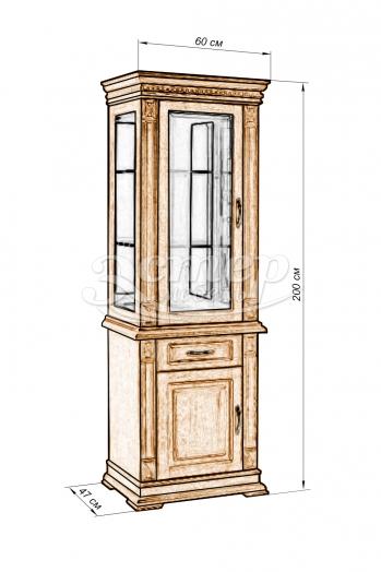 Шкаф Флоренция-8 из массива дуба