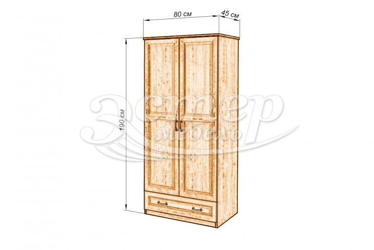Шкаф ECO-3 из массива сосны