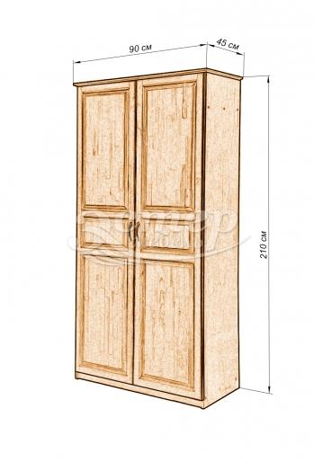 Шкаф Кантата из массива дуба
