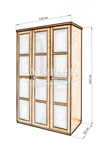 Шкаф Витраж матовый из массива березы
