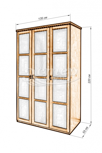 Шкаф Витраж матовый из массива бука