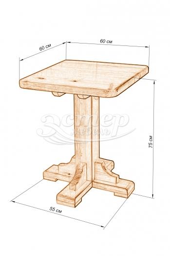 Стол Дачный-1 из массива сосны
