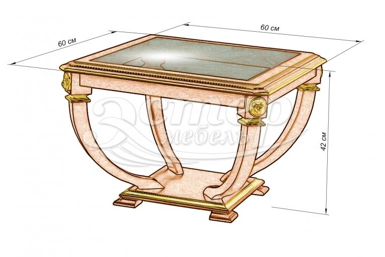 Стол Лев-1 из массива березы