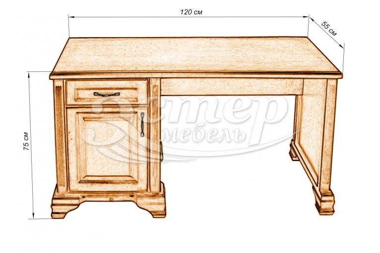 Стол письменный 1 из массива дуба