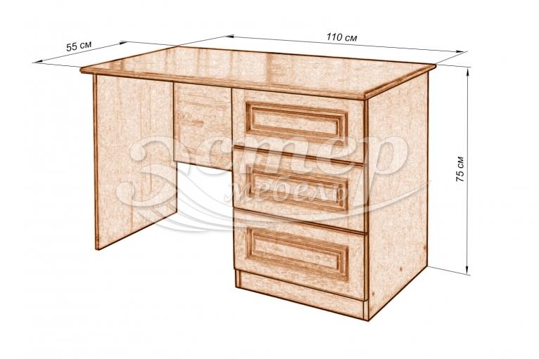 Стол письменный 2 из массива дуба