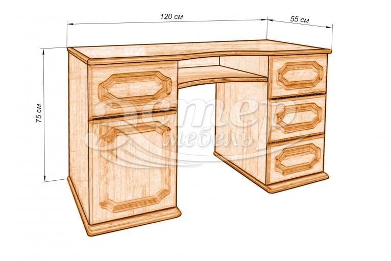 Стол письменный 3 из массива дуба