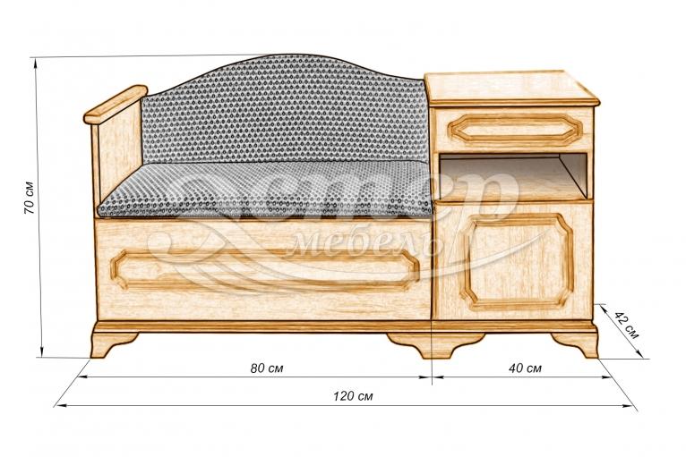 Телефонница (фигурная обработка) из массива дуба