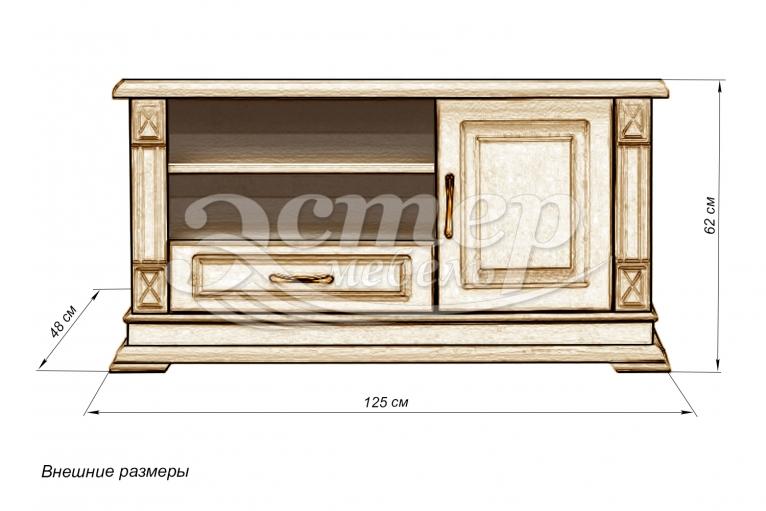 Тумба Флоренция-1 слоновая кость из массива дуба