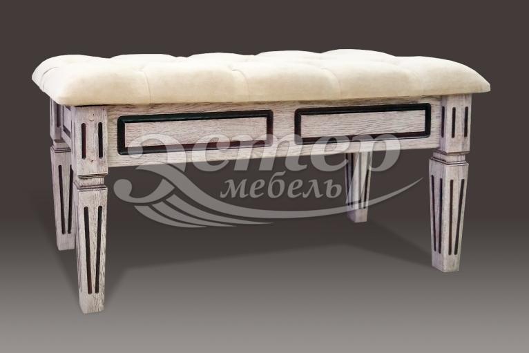 Банкетка с каретной стяжкой Доли из массива сосны