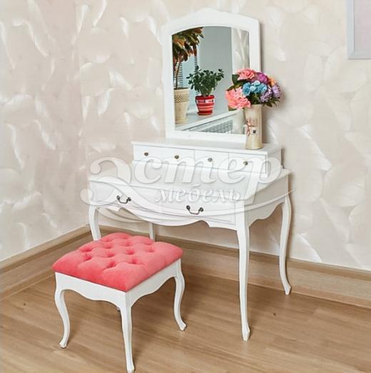 Дамский столик Прованс с надстройкой из массива сосны