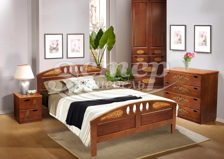 Спальный гарнитур Оливер из массива сосны