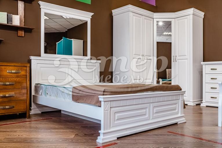 Кровать Верди из массива сосны (белая эмаль)