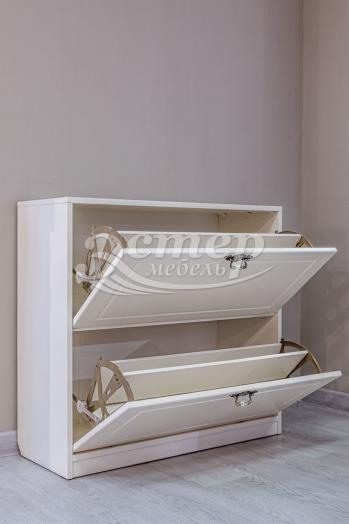 Обувница Фея из массива сосны (белая эмаль)