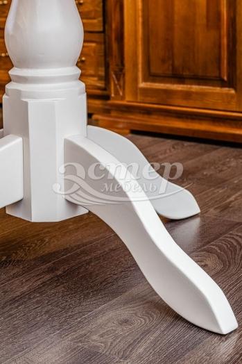 Стол Манчестер из массива сосны (белая эмаль)