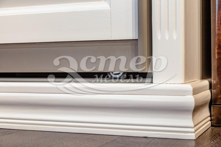 Шкаф-купе Лирона 1 из массива сосны (шампань)