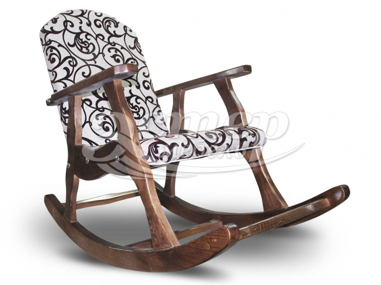 Кресло-качалка из массива дуба