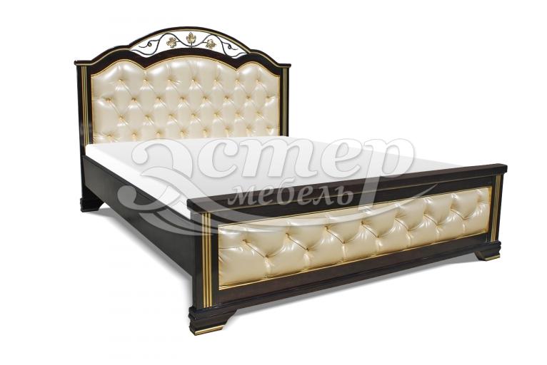 Кровать Пальмира с мягкой вставкой из массива березы